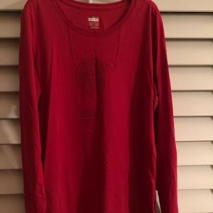 NIKE Tennis red long shirt  sz XL
